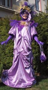 Benátský kostým - světle fialová