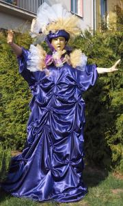 Benátský kostým - tmavě fialová