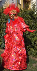 Benátský kostým - červená