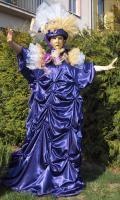 Benátský kostým - tmavě fialová Benátský kostým - tmavě fialová